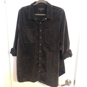 Lucky Brand Black Suede Button Up
